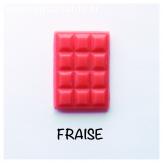 Cire parfumée fraise, Fondant a faire fondre, forme tablette