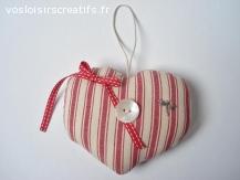 Coeur à suspendre - Décoration vintage romantique