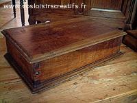 Coffret bois ancien, objet en bois décoratif et ou utilitair