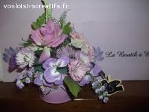 composition fleurs artificielles