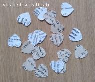 Confettis coeurs vintage