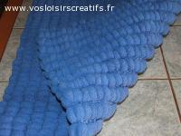couverture bébé double pompons - bleu nattier - polyester