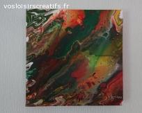 Création originale Fluid Art (pouring) - 29x29 3D (#509)