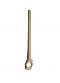 Cuillère a spaghettis en bois épais fleur 36.5 cm