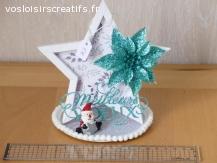 Décoration de Noël - Meilleurs Voeux (bleu)