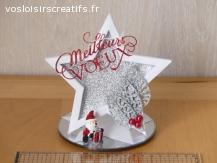 Décoration de Noël - Meilleurs Voeux (rouge)