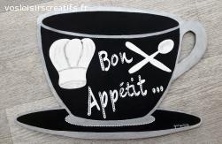 """DECORATION MURALE CUISINE """"Bon Appétit"""""""