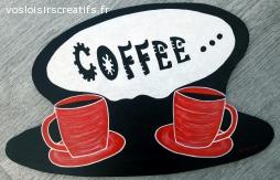 """DECORATION MURALE pour CUISINE """"COFFEE"""" fait et peint main"""