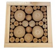 Dessous-de-plat en bois  rondin  laurier / noisetier