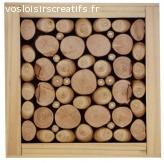 Dessous-de-plat en rondin de bois noisetier / lilas