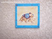 elephant  en peinture