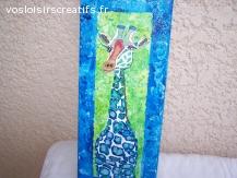 girafe peinture