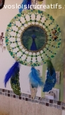 Joli dream catcher paon