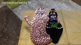 Joli support en bois couple barbapapa