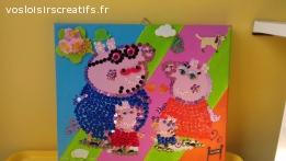 Joli tableau famille pepapig