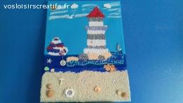 Joli tableau theme mer marin