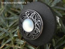"""jolie bague effet bijoux anciens""""perle de lune"""""""