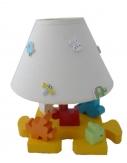 Lampe De Chevet Enfant « Le Puzzle » H 30 Cm couleur vive