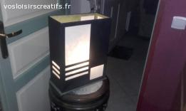 Lampe noire/verte