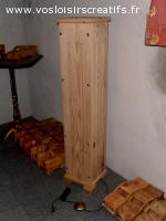 Lampe sur pied, objet en bois décoratif et ou utilitaire.