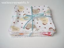 Lingettes lavables bébé ou lingettes démaquillantes Cocotte