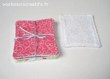 Lingettes lavables pour bébé ou démaquillantes - Arabesque