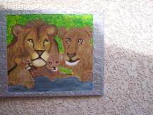 lion  en peinture