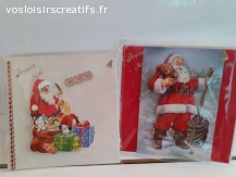 Lot de 2 cartes 3D enfants15X15 faites main ss blister