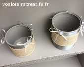 lot de 2 pots de maquillage ou crayon
