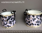 lot de 2 pots de maquillage