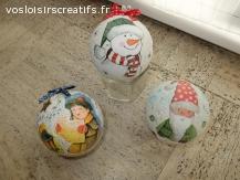 Lot de 3 boules de Noël à suspendre, pour arbre personnalisé