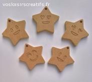 lot de 5 suspensions en forme d'étoile à décorer
