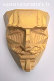 Masque Anonymous en bois