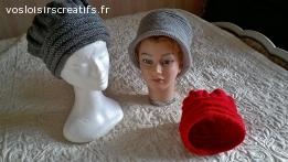nouveaux chapeaux au crochet en laine
