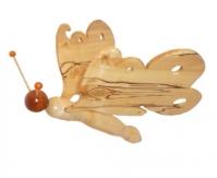 Papillon en bois de bouleau marbré, hêtre et érable marbre