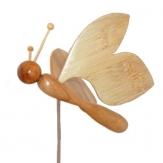 papillon en bois de cèdre, bambou et hêtre marbre