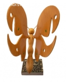 Papillon en bois de hêtre, érable et châtaignier marbre ital
