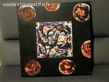 "Peinture abstraite ""Combustion"""