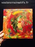 """Peinture abstraite """"l'été indien"""""""