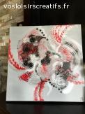 """Peinture abstraite """"Spirale infernale"""""""