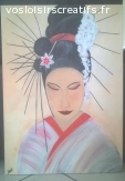 "Peinture ""Geisha"""