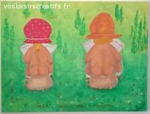 """Peinture """"Petit coin de nature"""""""