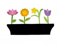 pense-bête en bois model : jardinière de fleurs 58x35 cm