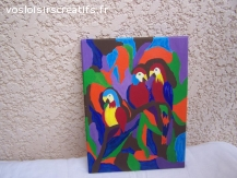 perroquet en peinture