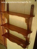 Petite étagère rustique, objet en bois décoratif et ou utili