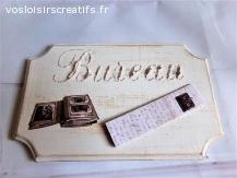 Plaque de porte pour Bureau vintage