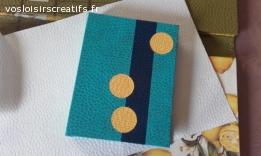 Porte carnet fantaisie bleu