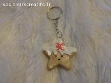 porte clé étoile de Noel
