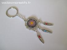 porte clés  fantaisie argenté  femme