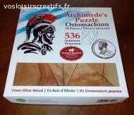 Puzzle d'Archimède en bois d'olivier